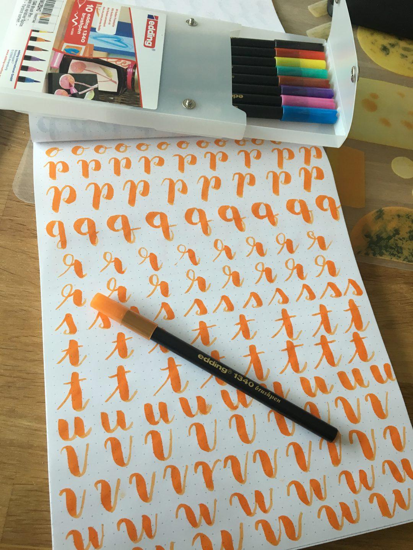 IMG 5443 - Nauka letteringu, co to jest Hand Lettering, kaligrafia. Podstawy, jak zacząć i moje trudne początki