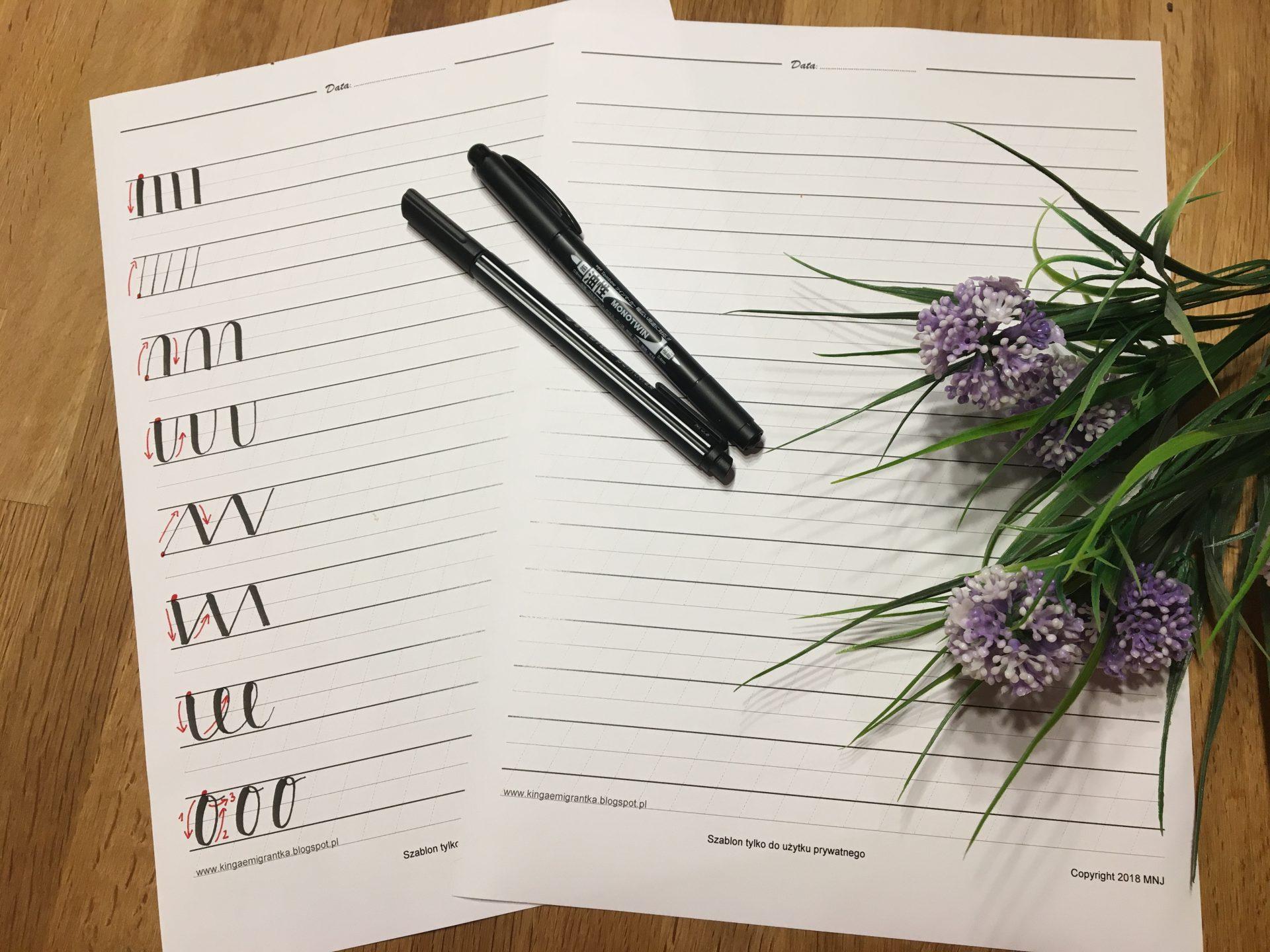 IMG 6146 - Darmowy przewodnik do brush letteringu. Rozgrzewka, alfabet i szablony do ściągnięcia za darmo
