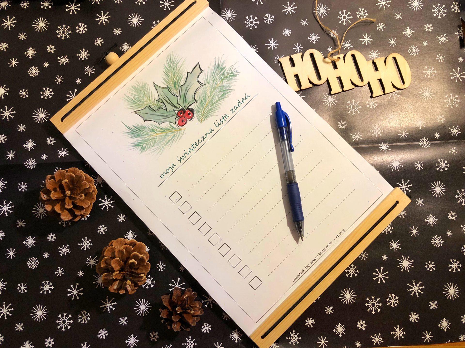 IMG 0993 - świąteczna lista zadań - do druku