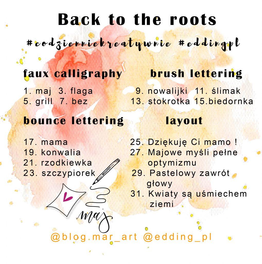 back to the roots 1019x1024 - Kreatywne wyzwania na instagramie #codzienniekreatywnie