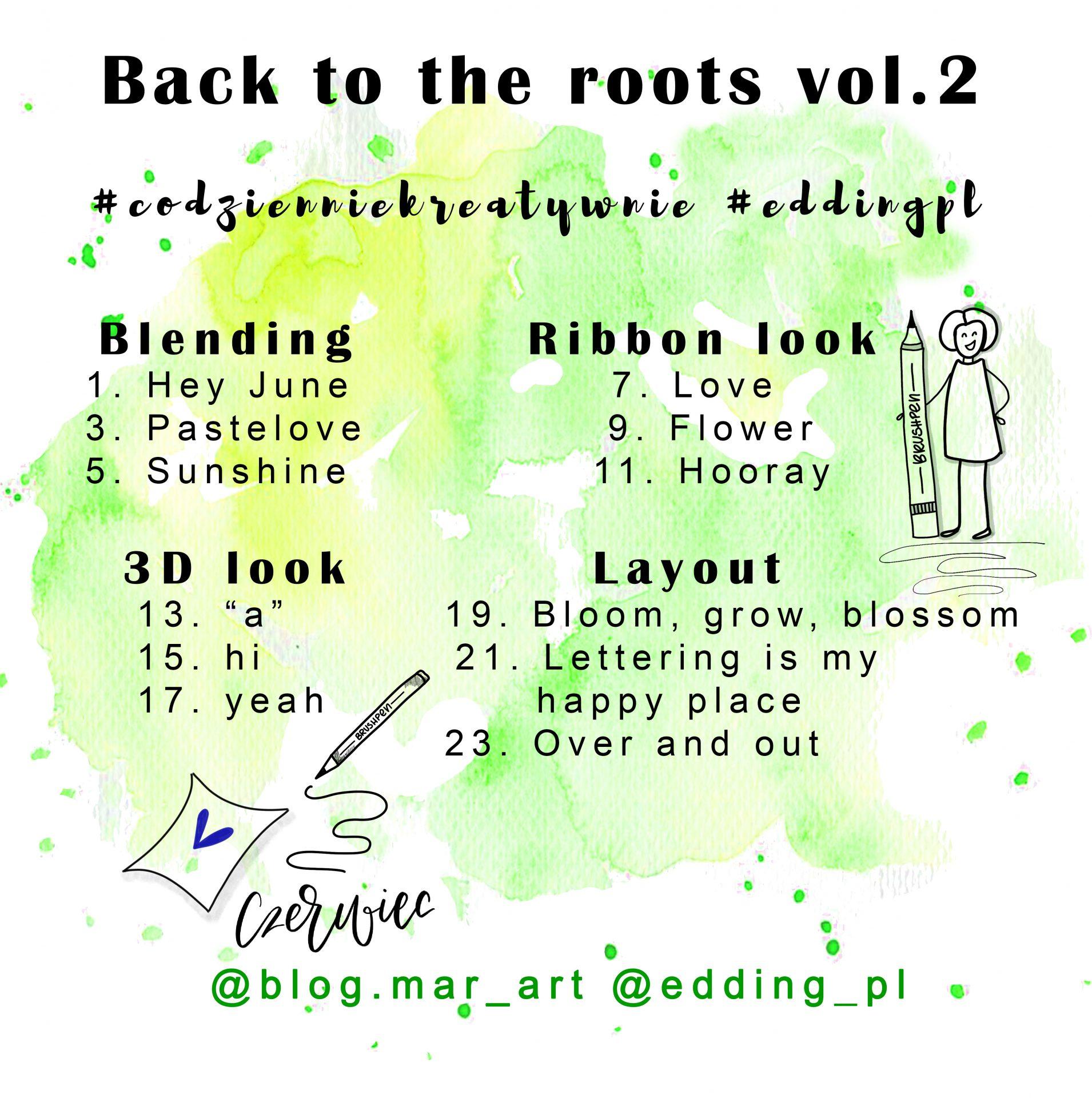 back to the roots vol - Kreatywne wyzwania na instagramie #codzienniekreatywnie