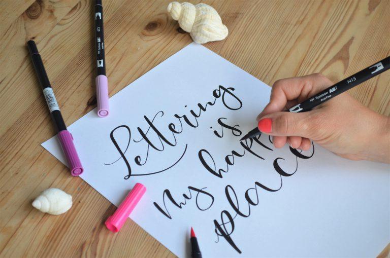 Mar art przewodnik nauka letteringu 768x509 - Hand Lettering. Przewodnik w formie eBooka z szablonami i projektami do nauki letteringu.