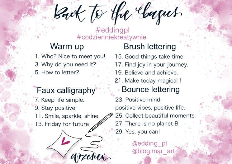back to the basics 745x527 - Wyzwanie letteringowe #codzienniekreatywnie i nauka letteringu