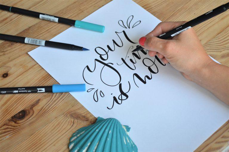 nauka letteringu