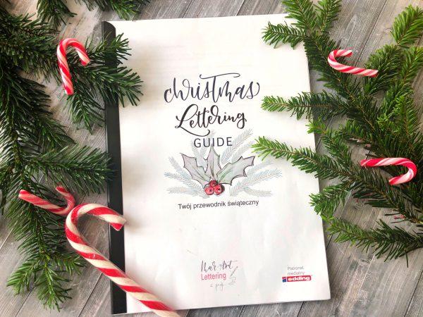 christmas lettering nauka letteringu