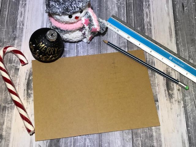 """IMG 1482 - Jak wykonać kartkę świąteczną """"choinka"""" -szablon"""