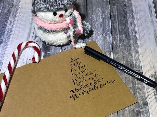 """IMG 1485 - Jak wykonać kartkę świąteczną """"choinka"""" -szablon"""