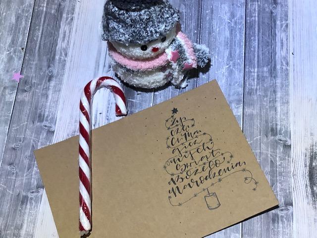 """IMG 1486 - Jak wykonać kartkę świąteczną """"choinka"""" -szablon"""