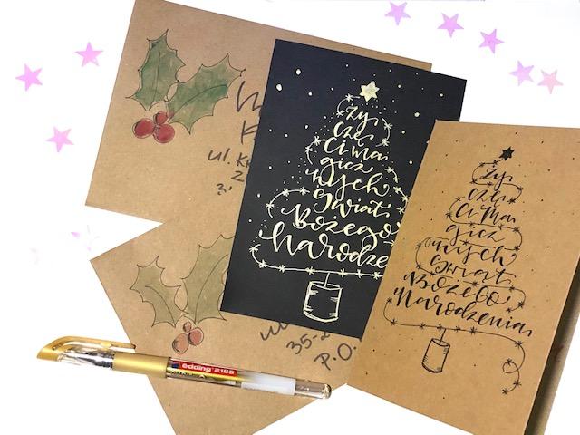 kartka świąteczna choinka szablon