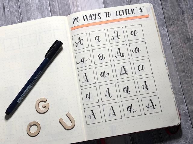 IMG 2275 - Stwórz 20 alfabetów do letteringu