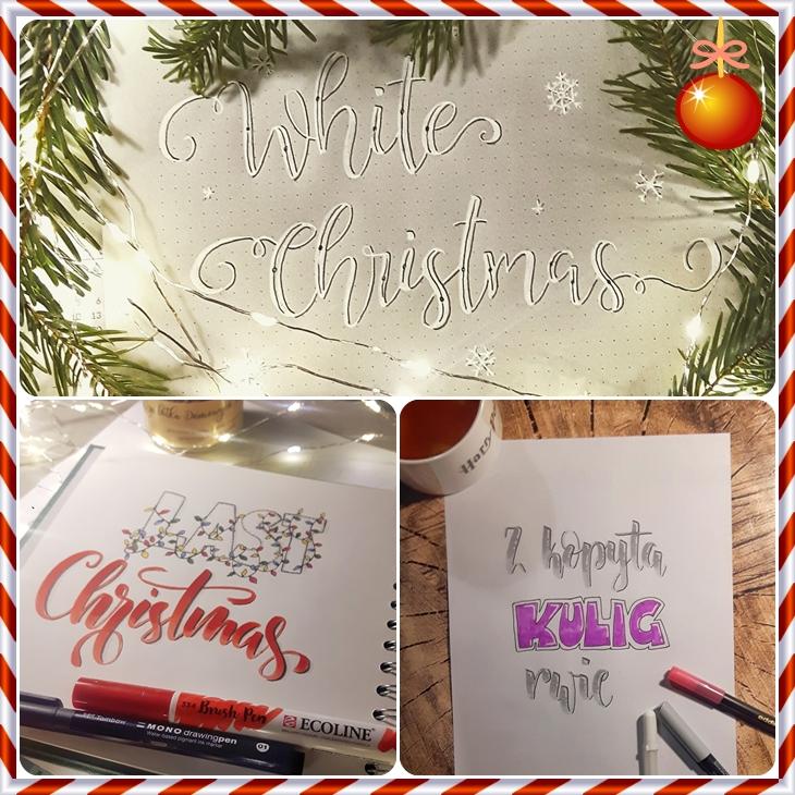 wyzwanie hand lettering Paulina - Wyzwanie letteringowe-podsumowanie grudnia