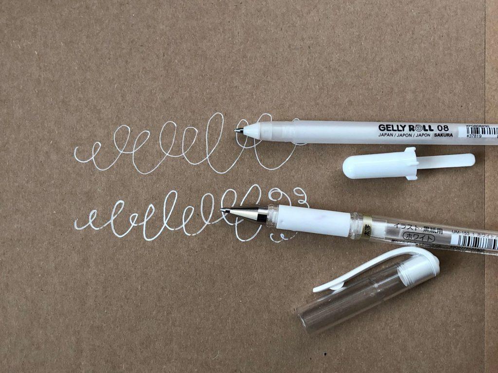 IMG 2784 1024x768 - Test pięciu białych pisaków, w tym biały brush pen