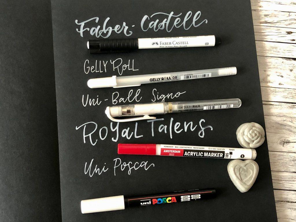 IMG 2788 1024x768 - Test pięciu białych pisaków, w tym biały brush pen