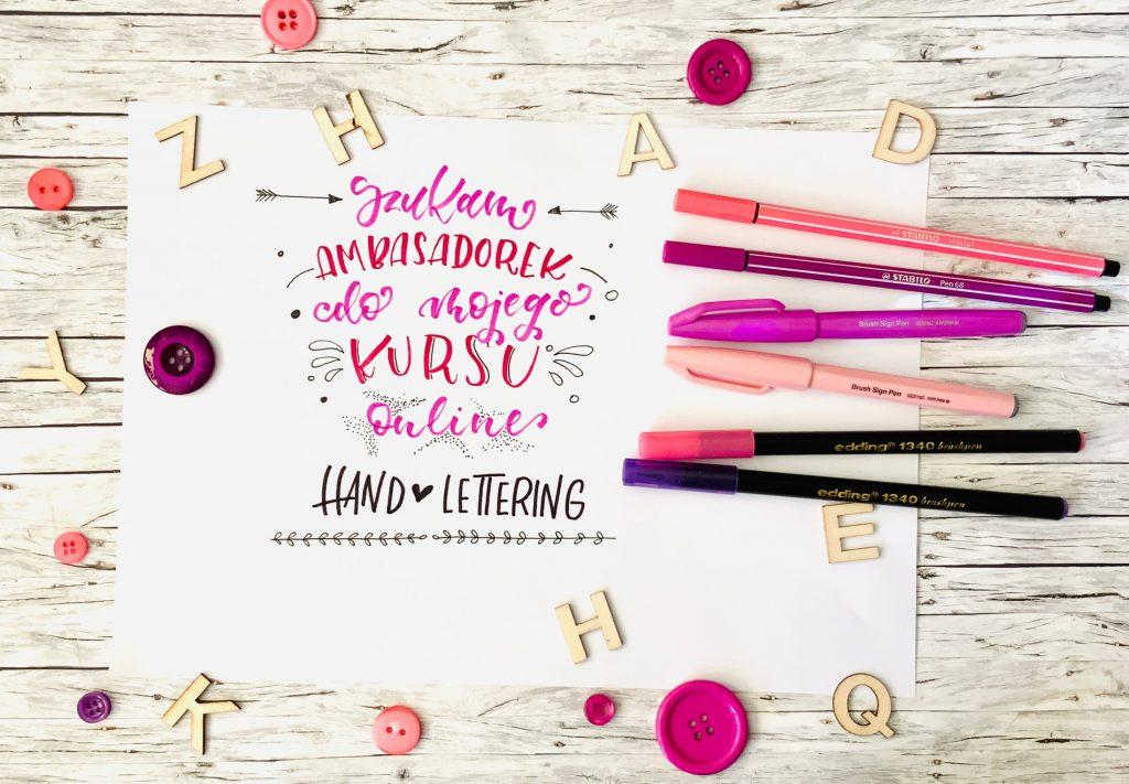 IMG 0849 1024x711 - Szukam ambasadorek do mojego kursu online brush lettering