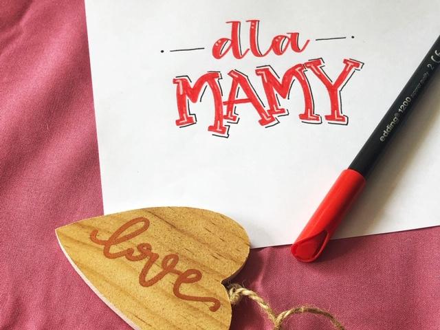 brush lettering dzień matki - Hand lettering kurs online