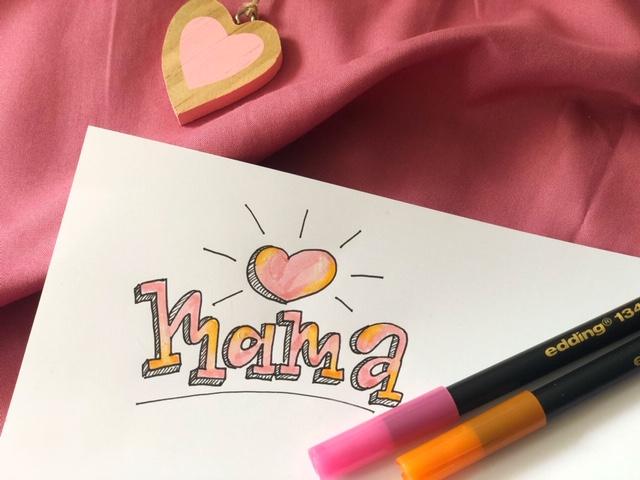 mama napis brush lettering - Hand lettering kurs online