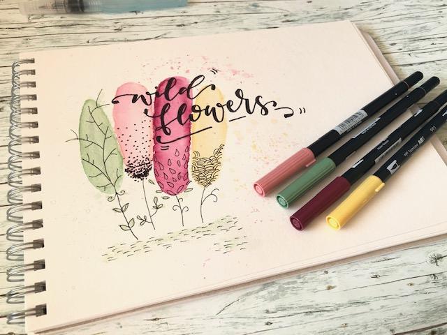 tombow brush pen - Hand lettering kurs online