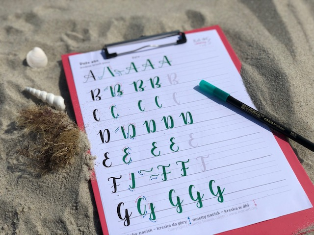 "arkusze do kaligrafii - Arkusze do brush letteringu oraz premiera kursu ""hand lettering"""
