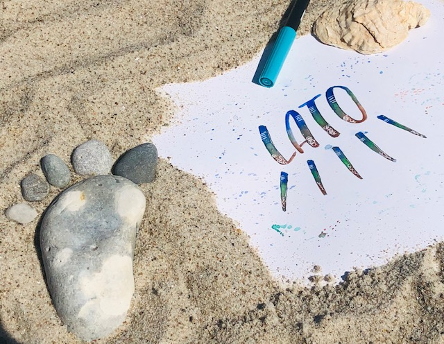 hand lettering wyzwanie - Wyzwanie letteringowe- lato 2020 z rebusem