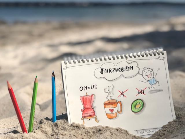 lato z rebusem sketchnotes - Wyzwanie letteringowe- lato 2020 z rebusem