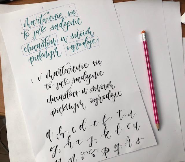 alfabety do kaligrafii - Jak stworzyć kompozycję - hand lettering