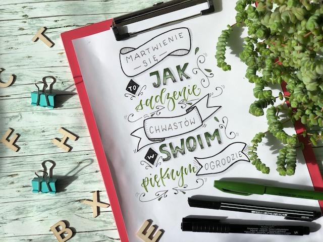 brush lettering kompozycja 1 - Jak stworzyć kompozycję - hand lettering