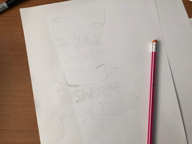 brush lettering - Jak stworzyć kompozycję - hand lettering