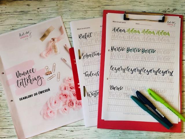 bounce lettering - Szablony do bounce lettering i konkurs