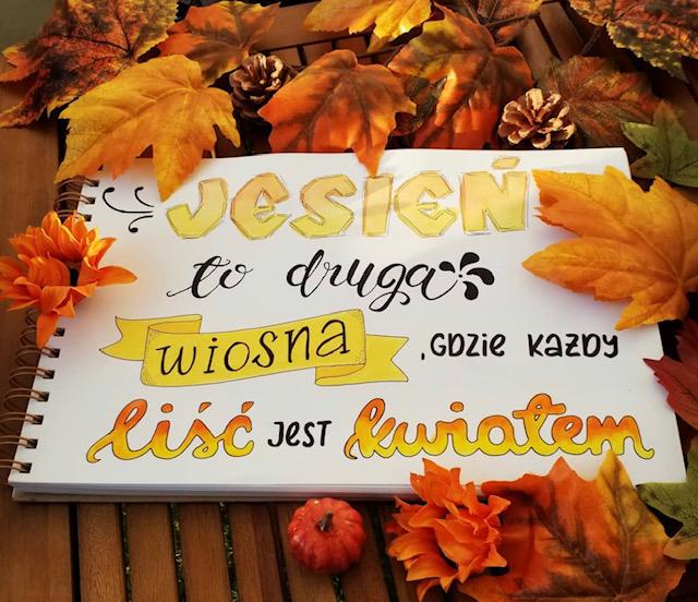 lettering po polsku - Wyniki konkursu jesiennego oraz nowe wyzwanie letteringowe na październik