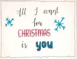 Anna B lettering świąteczny - Podsumowanie wyzwania- lettering świąteczny