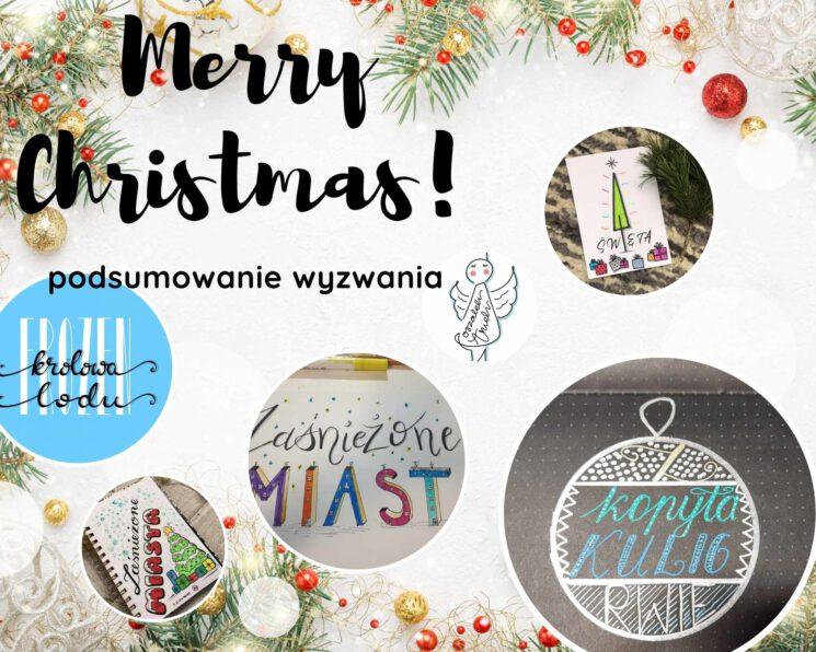 podsumowanie wyzwanie świąteeczny lettering