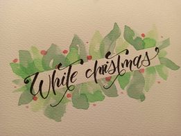 Monika lettering - Podsumowanie wyzwania- lettering świąteczny