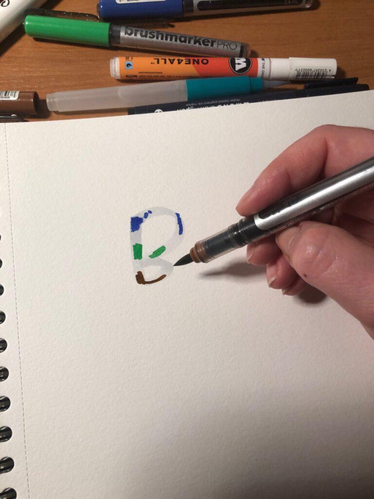 blendowanie w brushletteringu 768x1024 - Brush lettering - co to jest blending?