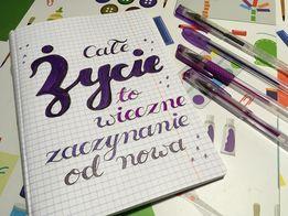 21 Izabela K brush lettering wyzwanie - Podsumowanie wyzwania - noworoczny lettering