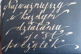 29 Sylwia F brush lettering alfabety - Podsumowanie wyzwania - noworoczny lettering