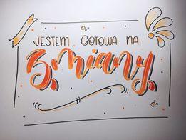 Monika L brush lettering - Podsumowanie wyzwania - noworoczny lettering