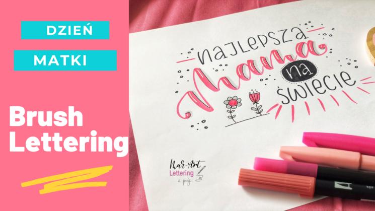 brush lettering na dzień matki