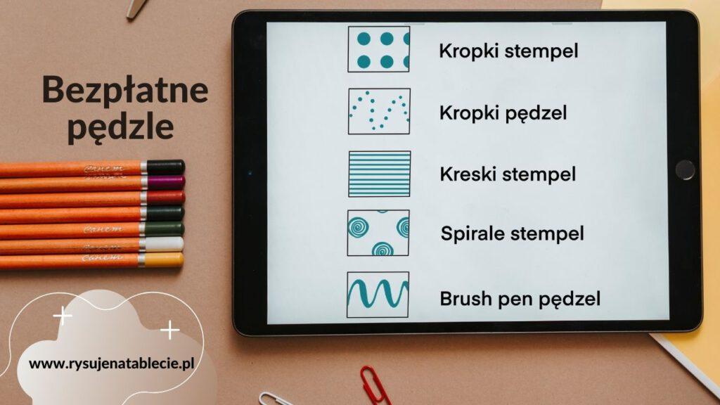 nezpłatne pędzle procreate pobierz 1024x576 - Brokatowy napis w procreate -instrukcja po polsku