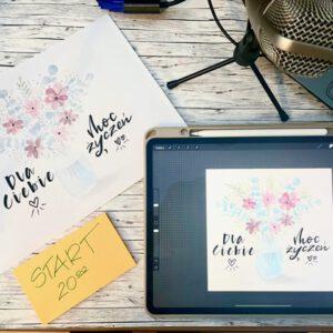 webinar procreate 300x300 - Webinar Procreate- akwarelowy bukiet kwiatów
